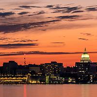 Madison Capitol at sunset