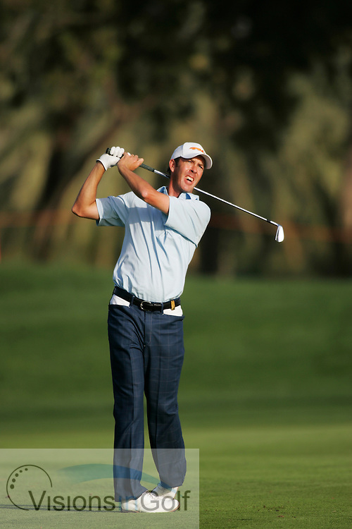 Richard Green at the Dubai Desert Classic 2005, Emirates GC, UAE.  Photo Mark Newcombe