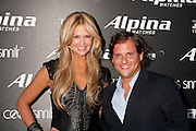 Nancy O'Dell, and U.S. President of Frederique Constant / Alpina Watches, Ralph Simons