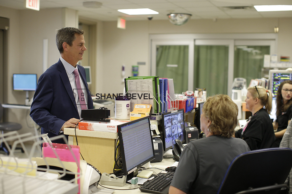 8/9/17 1:52:15 PM -- Photos of Saint Francis South employees and David Weil. <br /> <br /> Photo by Shane Bevel