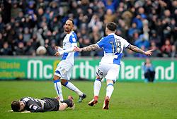 Dom Telford of Bristol Rovers celebrates his goal - Mandatory by-line: Neil Brookman/JMP - 30/03/2018 - FOOTBALL - Memorial Stadium - Bristol, England - Bristol Rovers v Bury - Sky Bet League One