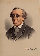 Henry Fawcett (1833-1884), English politician and economist, born in Salisbury, Wiltshire. Postmaster-general (1880-1884), he introduced the parcel post in 1882. Blinded in a shooting accident in 1858.  From 'The National Portrait Gallery' (London, c1880).