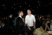 EVGENY LEBEDEV; DINOS CHAPMAN, Grey Goose Winter Ball to Benefit the Elton John AIDS Foundation. Battersea park. London. 29 October 2011. <br /> <br />  , -DO NOT ARCHIVE-© Copyright Photograph by Dafydd Jones. 248 Clapham Rd. London SW9 0PZ. Tel 0207 820 0771. www.dafjones.com.