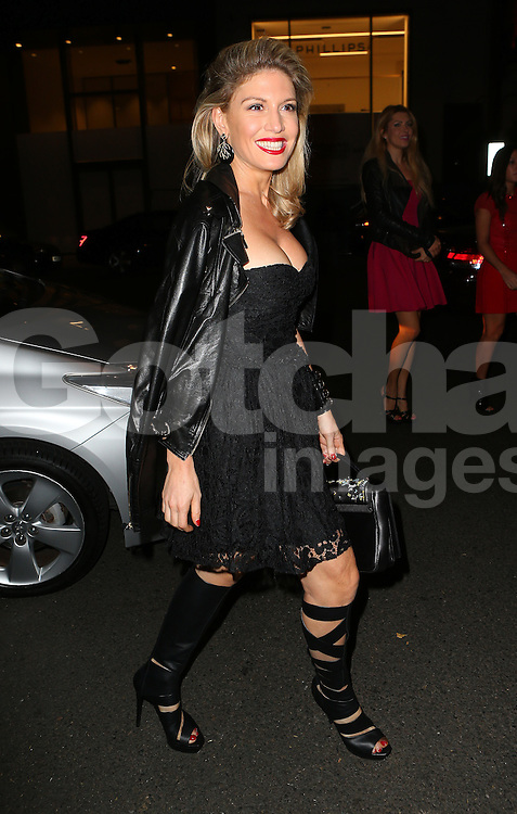 Hofit Golan attends the 10th anniversary of Mortons in Berkeley Square Gardens, London, UK. 02/10/2014<br />