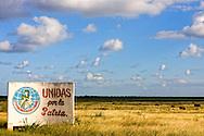 Political sign in Bolivia, Ciego de Avila Province, Cuba.