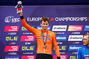 Podium, Men Road Race 230,4 km, Mathieu Van Der Poel (Netherlands) silver medal, during the Cycling European Championships Glasgow 2018, in Glasgow City Centre and metropolitan areas, Great Britain, Day 11, on August 12, 2018 - Photo Luca Bettini / BettiniPhoto / ProSportsImages / DPPI - Belgium out, Spain out, Italy out, Netherlands out -