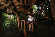 The Peeping Thom shoots enagement photos of Bryan and Becky in rustic Chiangmai Treehouse