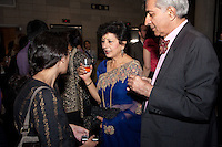 Meera Kumar (center) at the reception at Columbia University for the 2009 SAJA Convention