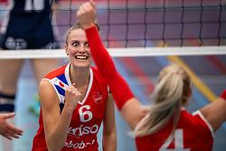 21-04-2019 NED: VC Sneek - Sliedrecht Sport, Sneek<br /> Final Round 2 of 5 Eredivisie volleyball - Sliedrecht Sport win 3-0 / Lieze Braaksma #6 of VC Sneek