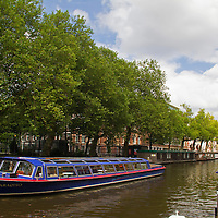 Europe, Netherlands, Amsterdam. Canal Cruise.