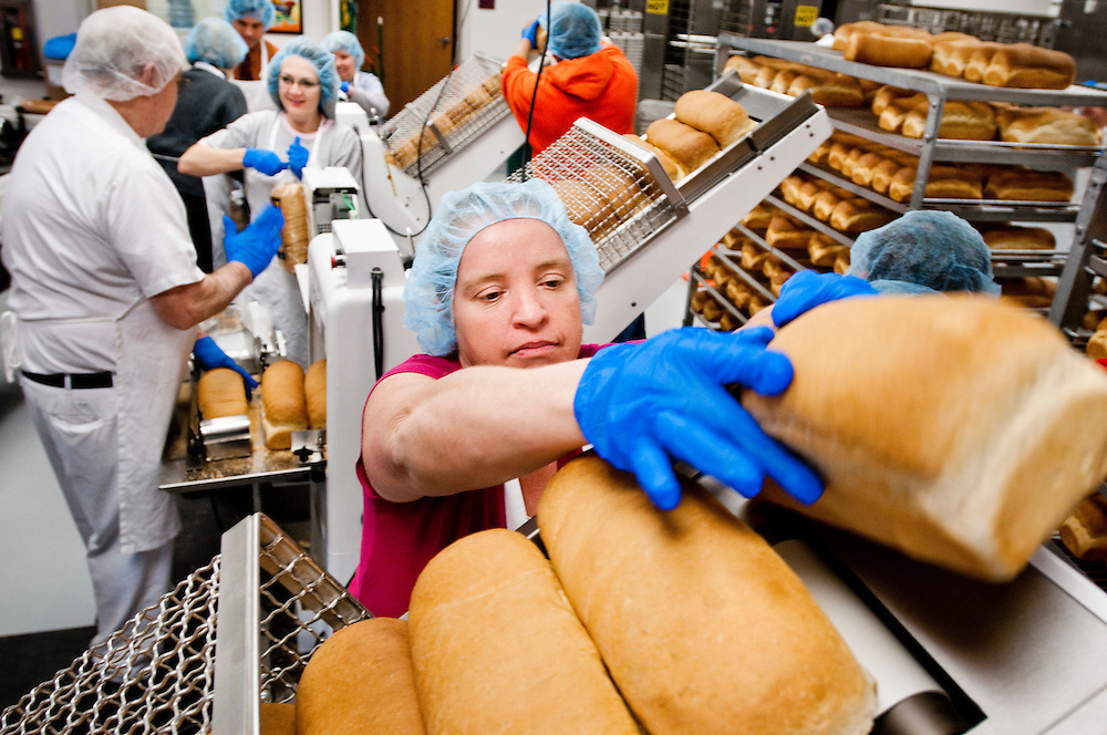 X X working in the bakery  on Welfare Square...Welfare Square is a facility composed of a grain elevator (granary), a large storehouse, a bakery, a cannery, a milk processing operation, a thrift store, and an employment center, all run by the LDS Church in the purpose of helping people help themselves...A bishop's storehouse in LDS Church is a commodity resource center that is used by bishops  of the church to provide goods to needy individuals. The storehouses stock basic foods and essential household items.