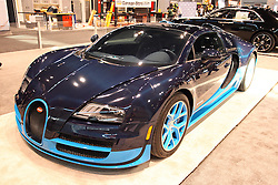 11 February 2016: Bugatti Veyron Vitesse.<br /> <br /> First staged in 1901, the Chicago Auto Show is the largest auto show in North America and has been held more times than any other auto exposition on the continent.  It has been  presented by the Chicago Automobile Trade Association (CATA) since 1935.  It is held at McCormick Place, Chicago Illinois<br /> #CAS16
