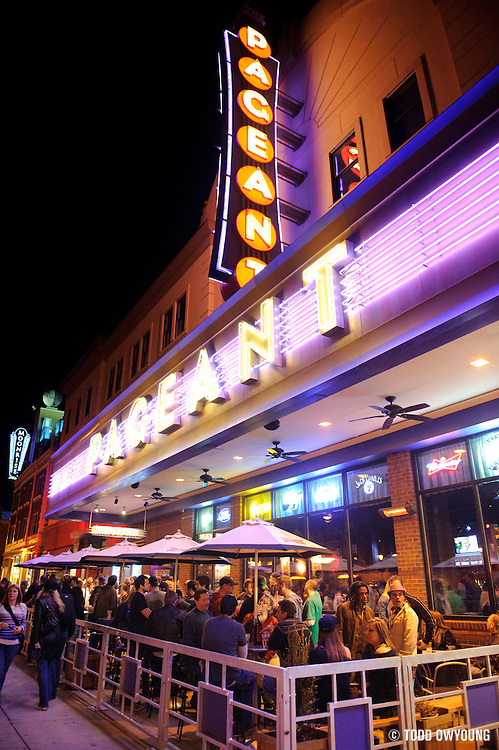 Fans outside the Halo Bar at the Pageant before the Urge took the stage for their headlining performance on November 11, 2011.