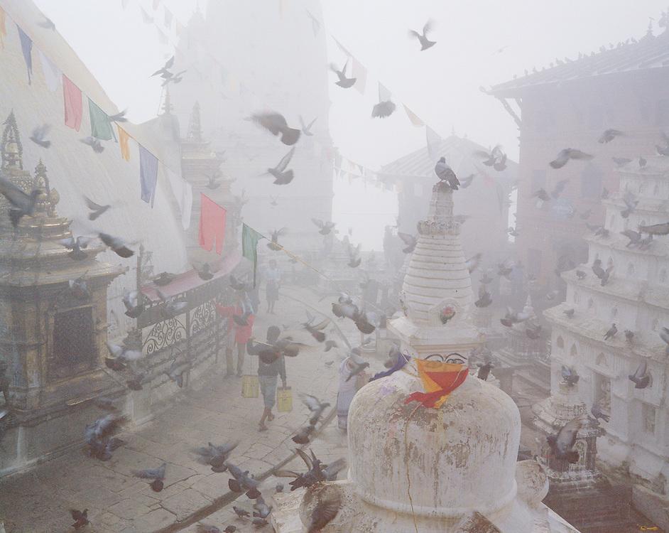Swayambhu Temple, Kathmandu, Nepal. A UNESCO World Heritage Site