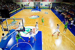 Marko Pajic of Slovenia (R) during basketball match between National teams of Turkey and Slovenia in Qualifying Round of U20 Men European Championship Slovenia 2012, on July 17, 2012 in Domzale, Slovenia. Slovenia defeated Turkey 72-71 in last second of the game. (Photo by Vid Ponikvar / Sportida.com)