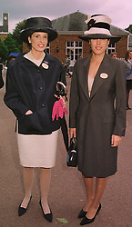 Left to right, LADY DE ROTHSCHILD and her daughter MISS JESSICA DE ROTHSCHILD, at Royal Ascot on 16th June 1998.MIL 98