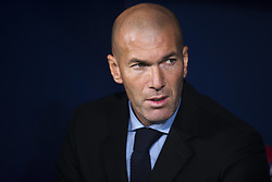 November 18, 2017 - Madrid, Madrid, Spain - Zinedine Zidane during the match between Atletico de Madrid and Real Madrid, week 12 of La Liga at Wanda Metropolitano stadium, Madrid, SPAIN - 18th November of 2017. (Credit Image: © Jose Breton/NurPhoto via ZUMA Press)