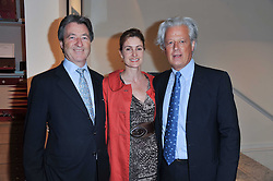 Left to right, JAMES & LUCINDA BRUCE and RANDLE SIDDELEY (LORD KENILWORTH) at a party to celebrate the publication of 'Garden' by Randle Siddeley held at Linley, 60 Pimlico Road, London on 24th May 2011.