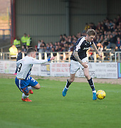 Dundee&rsquo;s Kevin Holt goes past Kilmarnock&rsquo;s Adam Frizzell - Dundee v Kilmarnock, Ladbrokes Scottish Premiership at Dens Park<br /> <br />  - &copy; David Young - www.davidyoungphoto.co.uk - email: davidyoungphoto@gmail.com