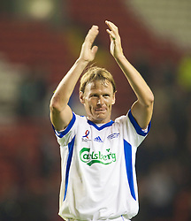 LIVERPOOL, ENGLAND - Thursday, May 14, 2009: All Stars' Teddy Sheringham during the Hillsborough Memorial Charity Game at Anfield. (Photo by David Rawcliffe/Propaganda)