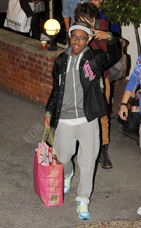 14.OCTOBER.2012. LONDON<br /> <br /> SIMEON DIXON OF MK1 LEAVING THE X-FACTOR STUDIOS AFTER THE RESULTS SHOW.<br /> <br /> BYLINE: EDBIMAGEARCHIVE.CO.UK<br /> <br /> *THIS IMAGE IS STRICTLY FOR UK NEWSPAPERS AND MAGAZINES ONLY*<br /> *FOR WORLD WIDE SALES AND WEB USE PLEASE CONTACT EDBIMAGEARCHIVE - 0208 954 5968*