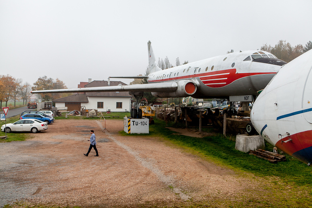 "A TU-104 airplane at the ""Air Park"" museum of technology which is a private collection gathered by the Tarantík family and located close to Pilsen. Karel Tarantík and his son Miloš established the Air Park museum in 1993 and since then, they have enhanced. The wide range and high quality of exhibits make Air Park one of the most popular technology museums in the Czech Republic."