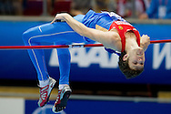 Ivan Ukhov of Russia competes in men's high jump final during the IAAF Athletics World Indoor Championships 2014 at Ergo Arena Hall in Sopot, Poland.<br /> <br /> Poland, Sopot, March 9, 2014.<br /> <br /> Picture also available in RAW (NEF) or TIFF format on special request.<br /> <br /> For editorial use only. Any commercial or promotional use requires permission.<br /> <br /> Mandatory credit:<br /> Photo by © Adam Nurkiewicz / Mediasport