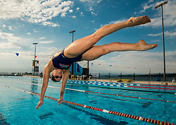 Tjasa Oder during practice session of Slovenian Swimming National Team, on June 7, 2017 in Zusterna, Koper / Capodistria, Slovenia. Photo by Vid Ponikvar / Sportida