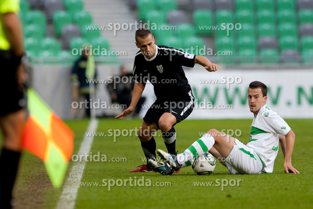 Anej Lovrecic of NK Olimpija during football match between NK Olimpija and NK Mura 05  35th Round of PrvaLiga 2011/12, on May 12, 2012 in SRC Stozice, Ljubljana, Slovenia. (Photo by Urban Urbanc / Sportida.com)