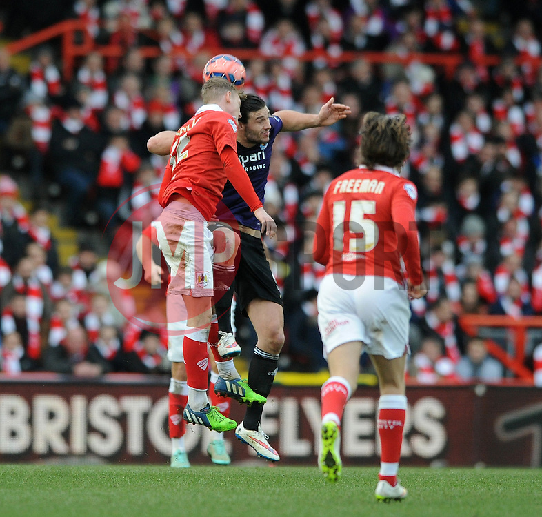 - Photo mandatory by-line: Dougie Allward/JMP - Mobile: 07966 386802 - 25/01/2015 - SPORT - Football - Bristol - Ashton Gate - Bristol City v West Ham United - FA Cup Fourth Round