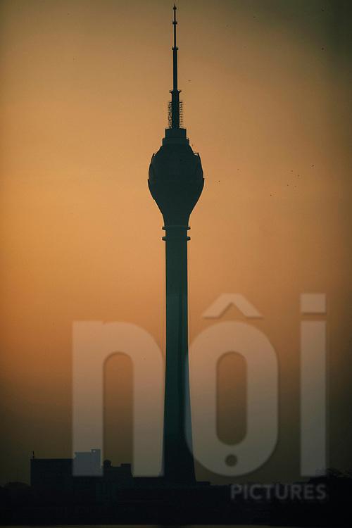 The Lotus Tower at sunrise, Colombo, Sri Lanka, Asia