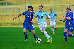 Lara Prasnikar of Slovenia during women football match between National teams of Slovenia and Iceland in 2019 FIFA Women's World Cup qualification, on April 06, 2018 in Sportni park Lendava, Lendava, Slovenia. Photo by Mario Horvat / Sportida