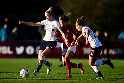 Ebony Salmon of Bristol City is challenged by Rhiannon Roberts of Liverpool Women - Mandatory by-line: Ryan Hiscott/JMP - 19/01/2020 - FOOTBALL - Stoke Gifford Stadium - Bristol, England - Bristol City Women v Liverpool Women - Barclays FA Women's Super League