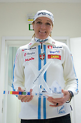 Petra Majdic at press conference on the day of her birthday, after she came back from Dusseldorf, where she won the sprint race, on December 22, 2008, Ljubljana, Slovenia. (Photo by Vid Ponikvar / SportIda).