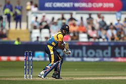 June 28, 2019 - Chester Le Street, County Durham, United Kingdom - Sri Lanka's Kusal Mendis batting during the ICC Cricket World Cup 2019 match between Sri Lanka and South Africa at Emirates Riverside, Chester le Street on Friday 28th June 2019. (Credit Image: © Mi News/NurPhoto via ZUMA Press)