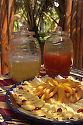 "Puerto Vallarto, Mexico: Pineapple, mango and guave ""water"" and fruit is sold on the streets in Puerto Vallarta, Mexico. (Photo: Ann Summa)."