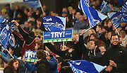 Blues fans during the Super Rugby match between The Blues and Crusaders at Eden Park in Auckland, New Zealand. Saturday 6 June 2015. Copyright Photo: Andrew Cornaga / www.Photosport.co.nz