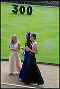 KATHERINE RICHARDSON;  JOELLE CHESS; ALICE PRIESTLAND;, The Tercentenary Ball, Worcester College. Oxford. 27 June 2014