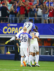 July 22, 2017 - Arlington, TX, USA - Arlington, TX - Saturday July 22, 2017: Clint Dempsey celebrates his goal during a 2017 Gold Cup Semifinal match between the men's national teams of the United States (USA) and Costa Rica (CRC) at AT&T stadium. (Credit Image: © Rick Yeatts/ISIPhotos via ZUMA Wire)