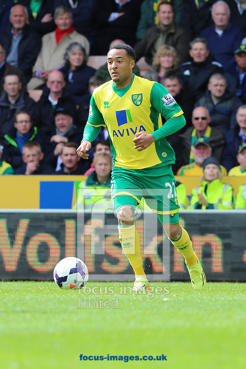Nathan Redmond of Norwich City during the Barclays Premier League match at Carrow Road, Norwich<br /> Picture by Richard Calver/Focus Images Ltd +447792 981244<br /> 11/05/2014