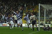29/11/2003 - Photo  Peter Spurrier.2003/04 Nationwide Football Div 2 QPR V Sheffield Wed. Steve Palmer celebrates scoring QPR's first.