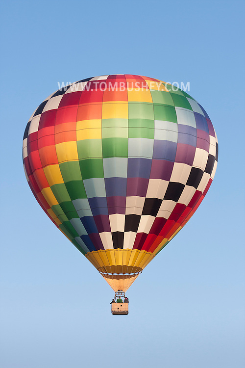 Middletown, New York - A hot air balloon at Randall Airport on  April 12, 2014.