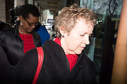 © Licensed to London News Pictures. 20/02/2018. London, UK. Chair of Oxfam trustees CAROLINE THOMSON (right) and Oxfam International executive director WINNIE BYANYIMA (lefT), arrive at Portcullis House in London where Oxfam bosses are due to give evidence to an International Development Select Committee. The group will respond to allegations that prostitutes were hired by Oxfam workers during a humanitarian mission in Haiti. Photo credit: Ben Cawthra/LNP