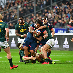 Sebastien Taofifenua of France during the test match between France and South Africa at Stade de France on November 18, 2017 in Paris, France. (Photo by Dave Winter/Icon Sport)