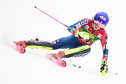 January 7, 2018 - Kranjska Gora, Gorenjska, Slovenia - Mikaela Shiffrin of United States of America competes on course during the Slalom race at the 54th Golden Fox FIS World Cup in Kranjska Gora, Slovenia on January 7, 2018. (Credit Image: © Rok Rakun/Pacific Press via ZUMA Wire)