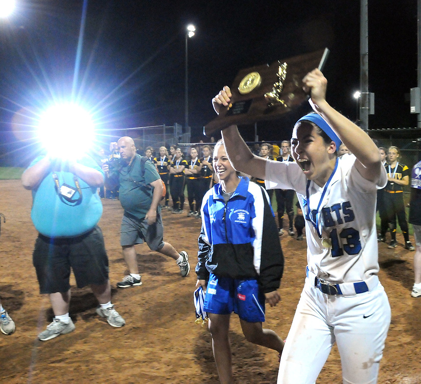 (Mara Lavitt &mdash; New Haven Register) <br /> June 14, 2014 West Haven<br /> CIAC Class LL softball championship between Southington and Amity. Southington won in the 15th inning with the only run of the game -- a home-run by Rachel Dube.<br /> mlavitt@newhavenregister.com