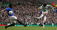 Photo: Paul Thomas.<br /> Glasgow Celtic v Glasgow Rangers. Bank of Scotland Scottish Premier League. 11/03/2007.<br /> <br /> Shunsuke Nakamura (R) of Celtic shoots.
