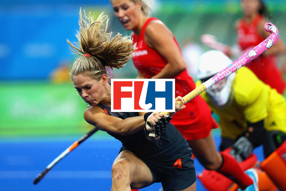 RIO DE JANEIRO, BRAZIL - AUGUST 19:  Kitty van Male of Netherlands on way to scoring the equalising goal to make score 1-1 during the Women's Gold Medal Match against the Netherlands on Day 14 of the Rio 2016 Olympic Games at the Olympic Hockey Centre on August 19, 2016 in Rio de Janeiro, Brazil.  (Photo by Tom Pennington/Getty Images)