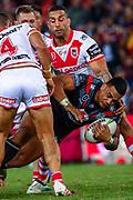 David Fusitu'a. Auckland Warriors v St George Dragons. NRL Rugby League.Magic Round 2019 Suncorp Stadium, Brisbane, New Zealand. May 11, 2019. © Copyright photo: Patrick Hamilton / www.photosport.nz
