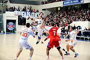 DESCRIZIONE : France Hand D1 Championnat de France D1 A Paris <br /> GIOCATORE : KARABATIC NIKOLA  <br /> SQUADRA : Montpellier<br /> EVENTO : FRANCE Hand D1<br /> GARA : Paris Montpellier<br /> DATA : 16/11/2011<br /> CATEGORIA : Hand D1 <br /> SPORT : Handball<br /> AUTORE : JF Molliere <br /> Galleria : France Hand 2011-2012 Action<br /> Fotonotizia : France Hand D1 Championnat de France D1 a Paris <br /> Predefinita :